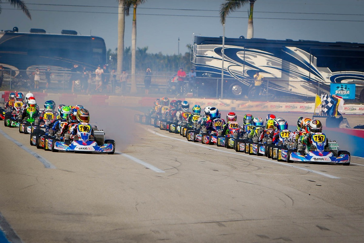 Speed Concepts Racing drivers lead the field to the green in Homestead