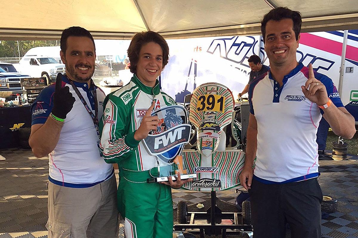 NF Piquet Sports staff with Dudu Barrichello