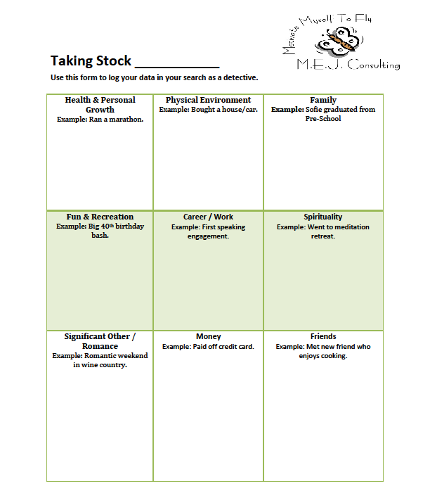 "Module 2:3 How to use the ""Taking Stock"" worksheets"