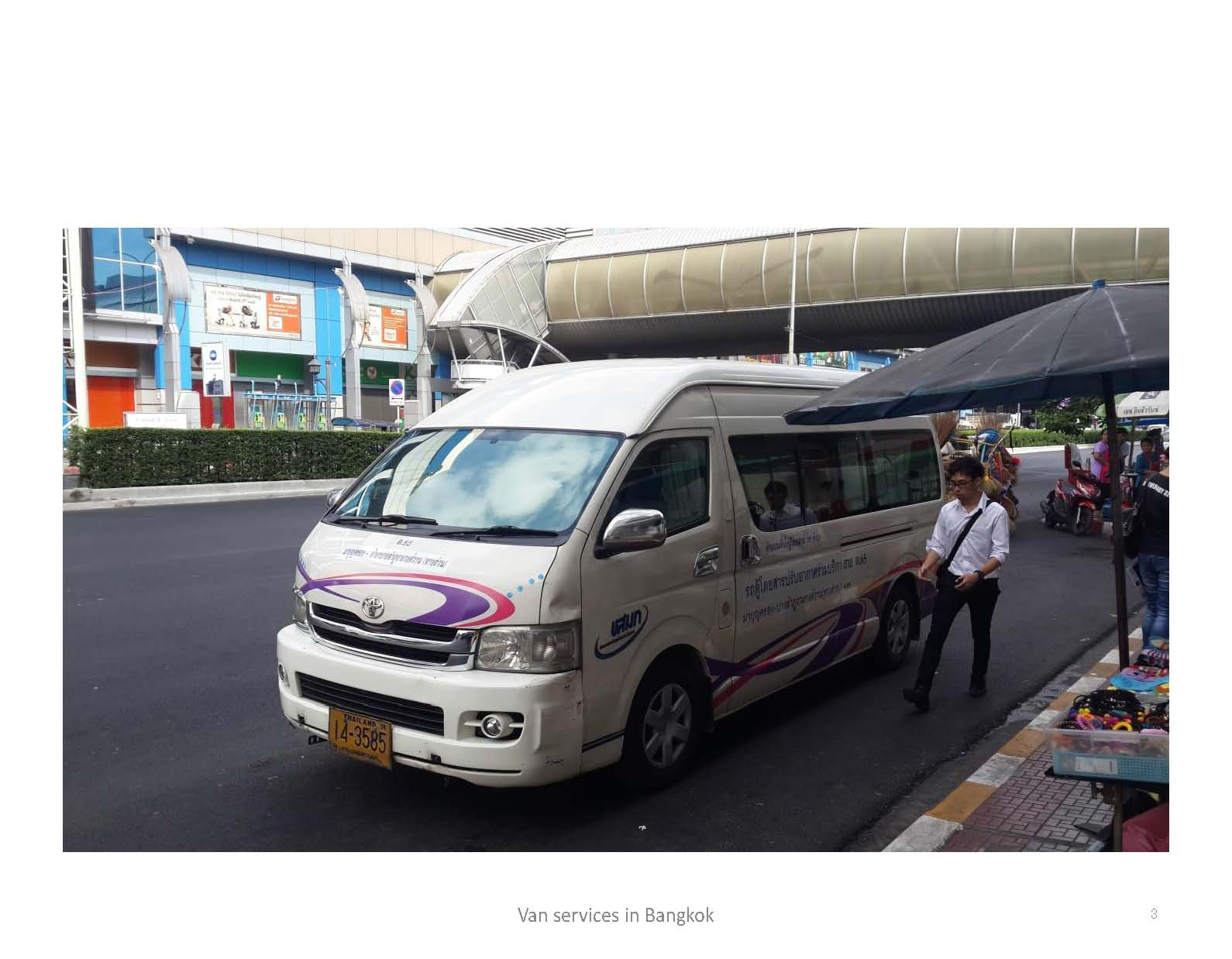 Market and Institutional Characteristics of Passenger Van Services