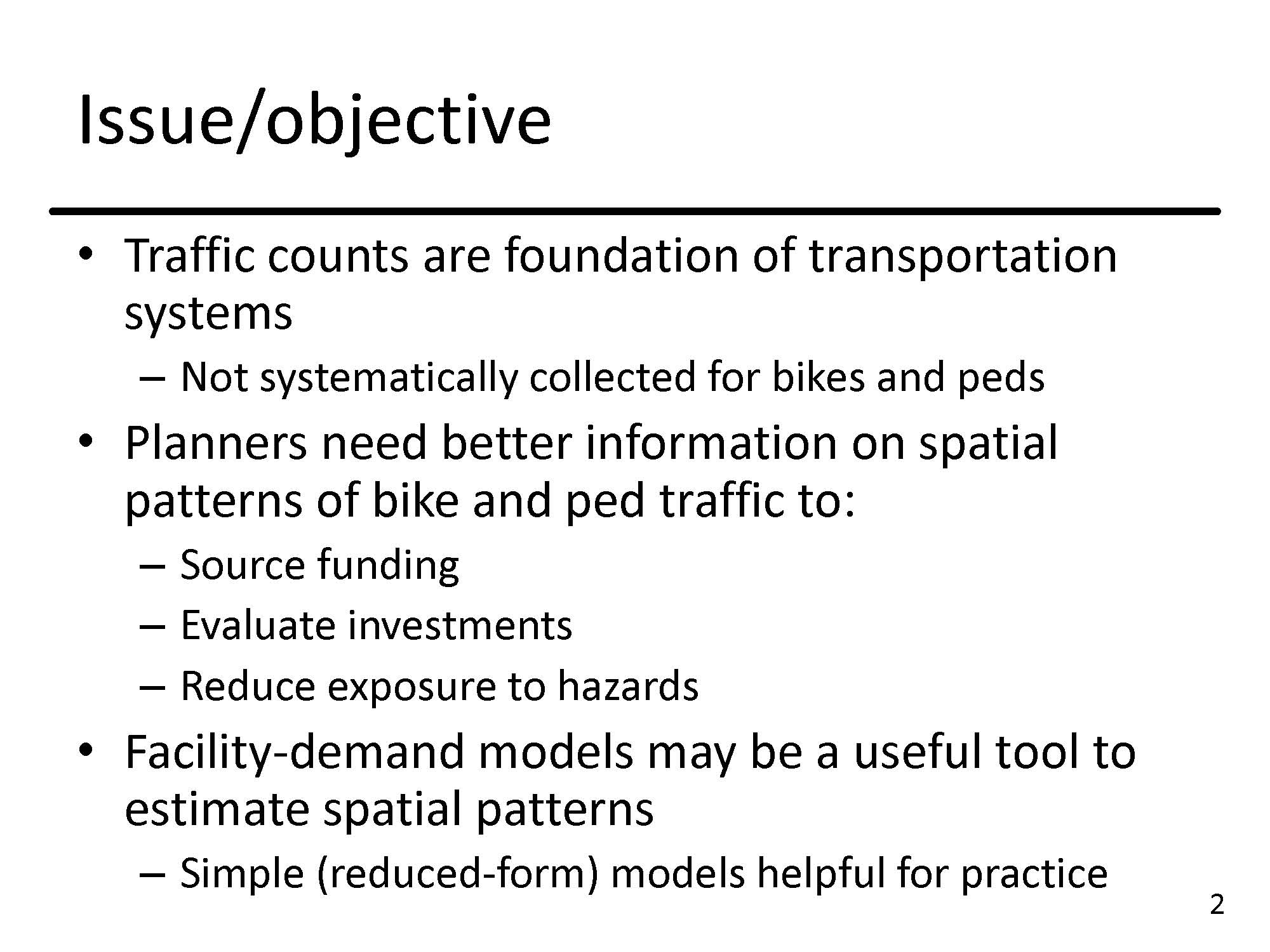 Facility Demand Models of Peak-Hour Pedestrian and Bicycle Traffic ...
