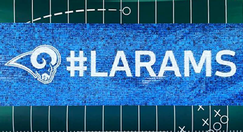 LA Rams Training Camp Photo Mosaic Wall