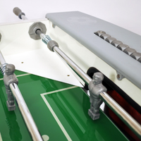 See the KETTLER Outdoor Foosball Table with leg levelers and telescopic rods. The soccer game table has unbreakable players and glass field for high speed play.
