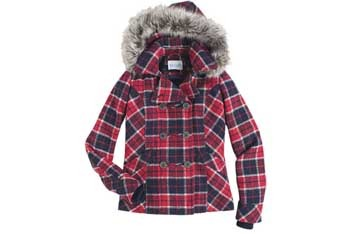 Jayden plaid pea coat, $79.50, Delias.com
