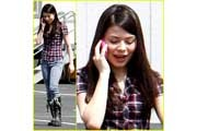 Miranda Cosgrove loves plaid!