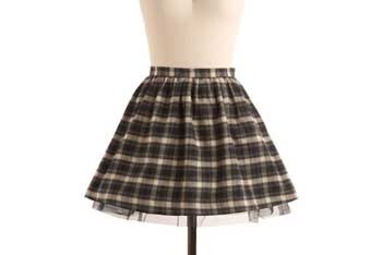 BB Dakota Discovery flannel skirt, $44.99, ModCloth.com