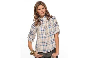 Vintage plaid woven top, $22.80, Forever21.com