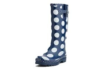 Multi dotted rain boot, $30, CharlotteRusse.com