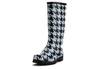 Houndstooth rain boot, $30, CharlotteRusse.com