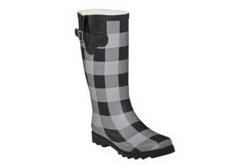 Buffalo check rain boots, $24.99, Target.com