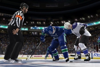 Canucks vs Kings face off