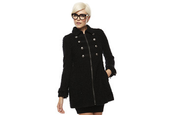 Boucle military coat, $39.80, Forever21.com