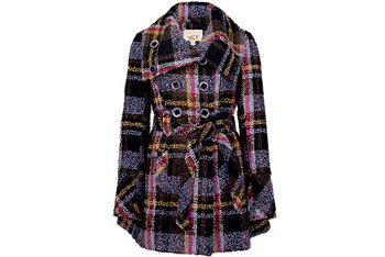 Nubby plaid coat, $89.95, Buckle.com