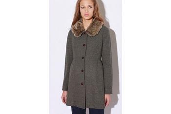 Cooperative Fur Collar lady coat, $138, UrbanOutfitters.com