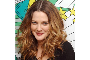 Drew Barrymore's bouncy waves