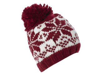 Pom pom Fairisle hat,  NewLook.com, $10