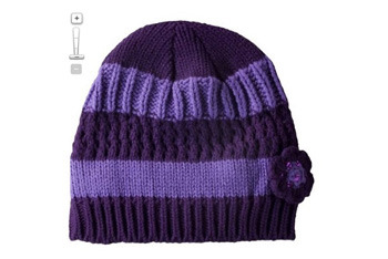 Cherokee magenta fashion hat, Target.com, $7.99 Cherokee honest purple fashion gloves, Target.com, $7.