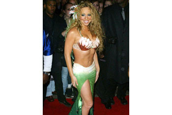 Mariah Carey as a mermaid