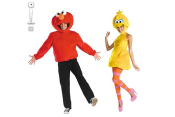 Elmo and Big Bird costumes, $79.99, Target.com