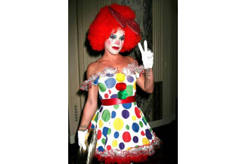 Pink's cute clown outfit