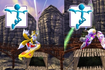 Sonic Free Riders multi-player