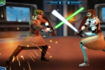 Clone Wars Adventure lightsaber duel
