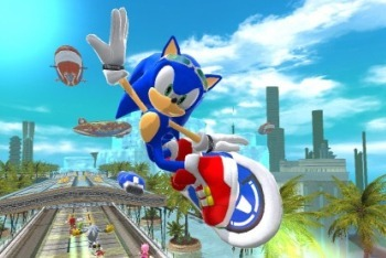 Sonic Free Riders Sonic catching mad air