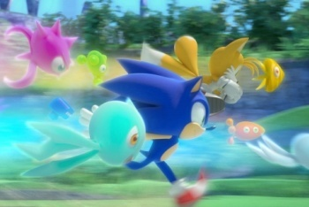 Sonic Colors running with alien wisps