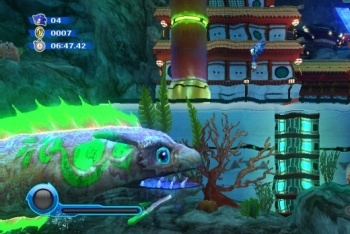 Sonic Color giant fish