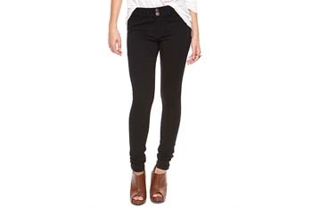 Skinny knit black pants, $19.80, Forever21