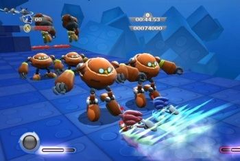 Sonic Colors co-op fighting enemies