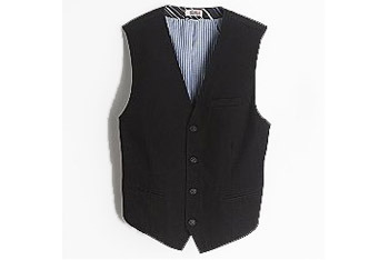 Route 66 Herringbone black vest, $11.99, KMart