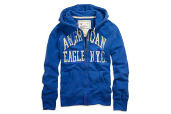 Graphic full-zip hoodie, $39.50, American Eagle