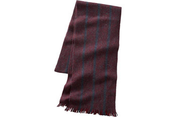 Striped fringe merino scarf, $24.50, Gap