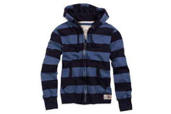 Striped full-zip hoodie, $49.50, American Eagle