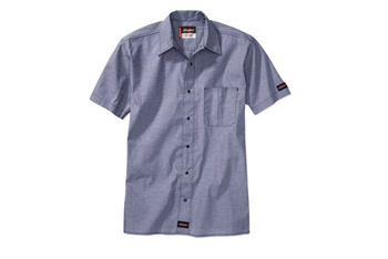 Dickies short sleeve chambray shirt, $15, WalMart