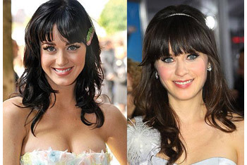 Separated at Birth: Katy Perry (L) and Zooey Deschanel (R)