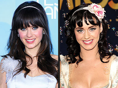 Zooey (L) and Katy (R) both rocking a headband