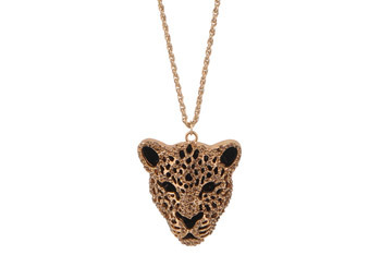 Diamond feline necklace, $9.80, at Forever21