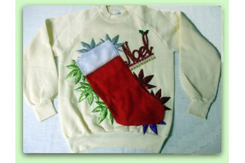 Noel Leaves Christmas sweater, $39, at ChristmasSweater.ca