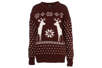 Reindeer sweater, $60, Topshop