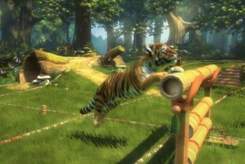 Kinectimal tiger obstacle course