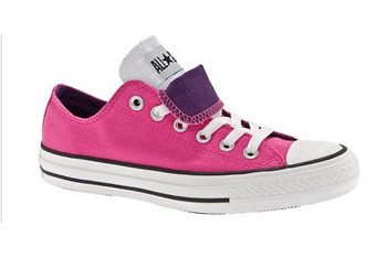 Converse double tongue pink sneakers, $39, DSW.com