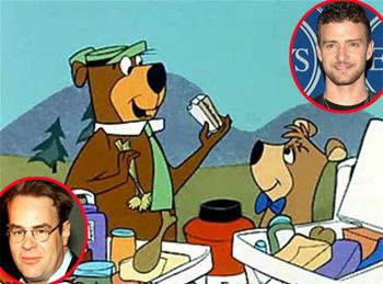 Dan Aykroyd and Justin Timberlake
