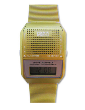 Cheapo Talking Watch in Gold, $35, at LazyOaf.co.uk