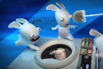 Raving Rabbids Travel in Time washing machine time machine