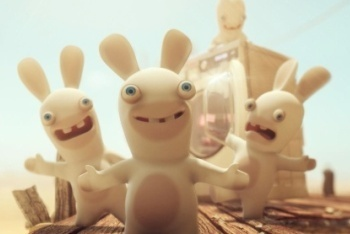 Raving Rabbids Travel in Time screenshot the rabbids
