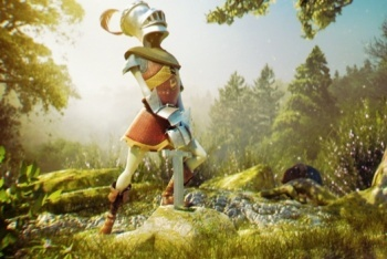 Raving Rabbids Travel in Time medieval knight