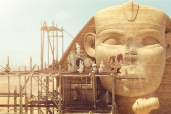 Raving Rabbids Travel in Time screenshot Ancient Egypt sphinx