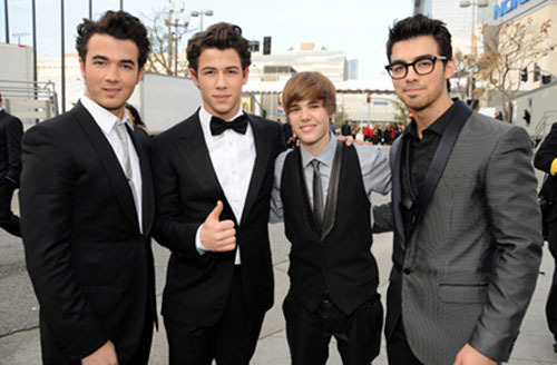 Jonas Brothers and Justin Bieber